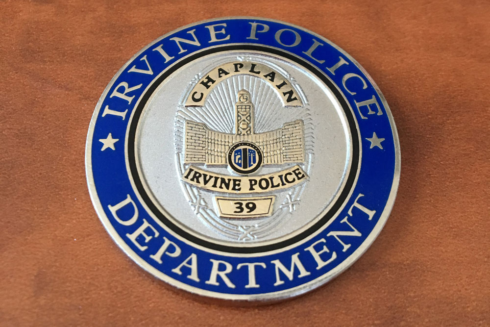 Coin from the Irvine Police Department